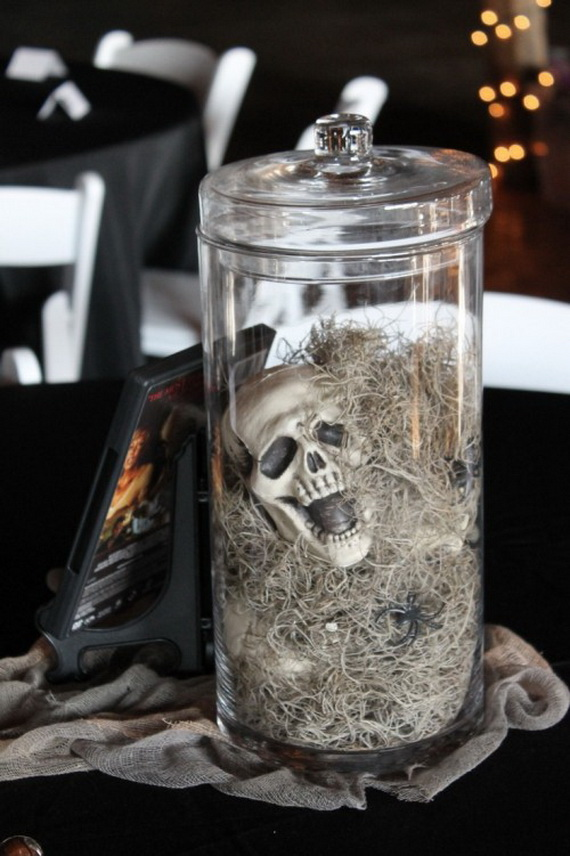Halloween Wedding Centerpiece Ideas _44