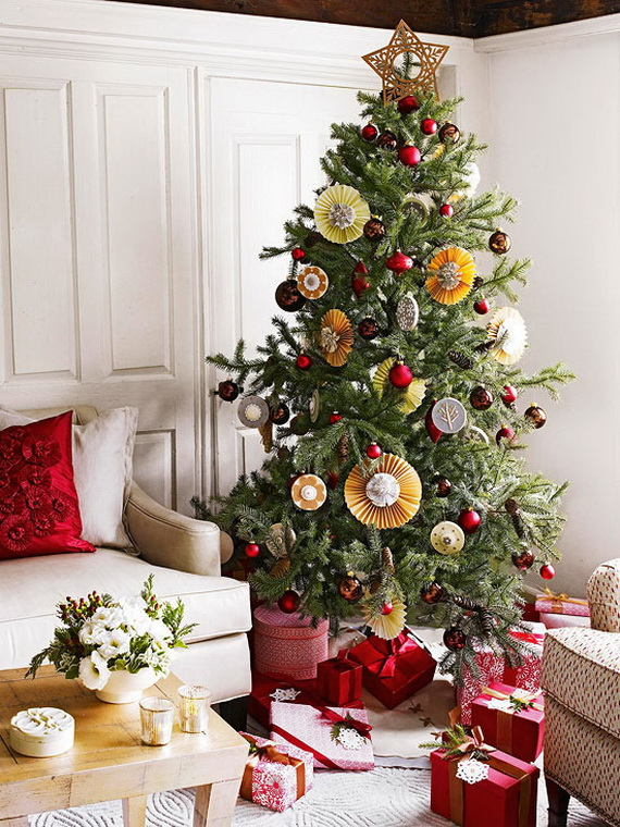 Holiday decorating ideas for small spaces interior for Small christmas tree decorating ideas