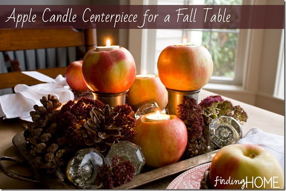 Simple and Easy Thanksgiving Centerpiece Ideas Using Candles_09