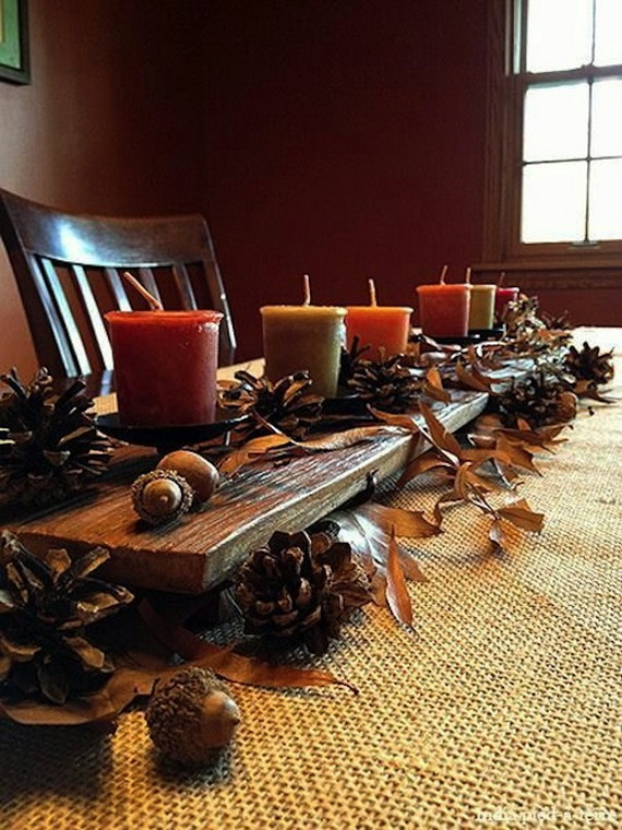 Simple and Easy Thanksgiving Centerpiece Ideas Using Candles_38