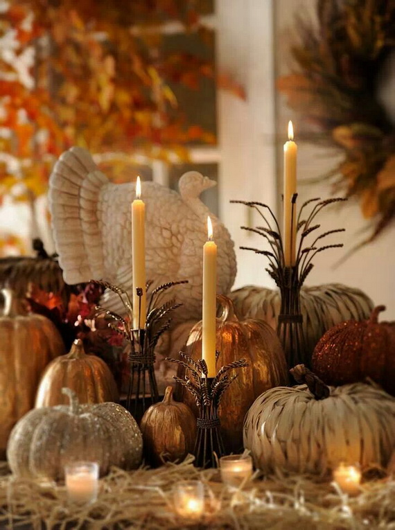 Simple and Easy Thanksgiving Centerpiece Ideas Using Candles_4