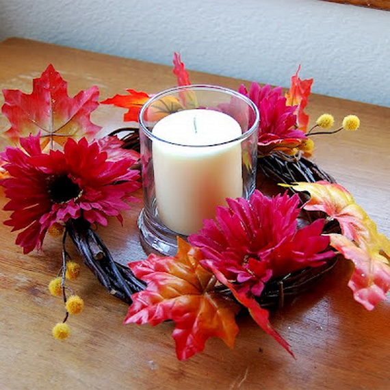 Simple and Easy Thanksgiving Centerpiece Ideas Using Candles_42