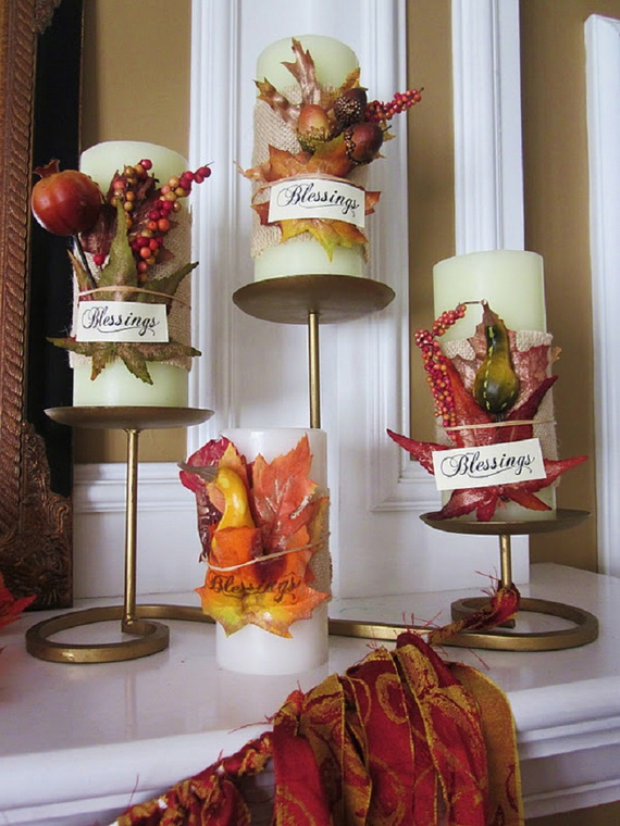 Simple and Easy Thanksgiving Centerpiece Ideas Using Candles_74