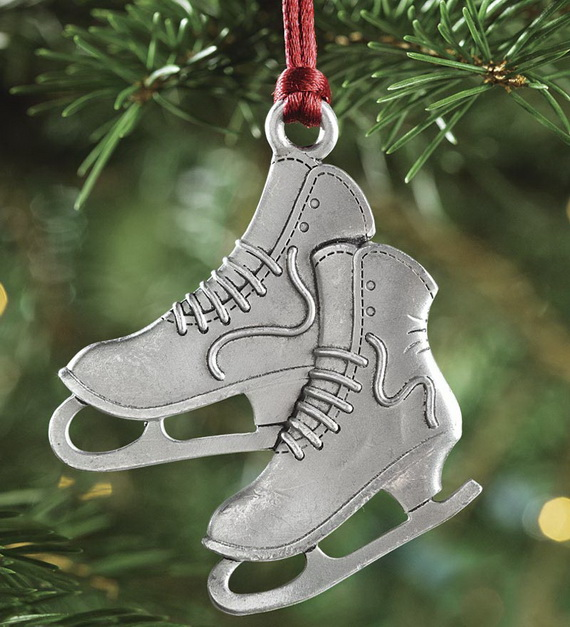 splendid ideas for christmas tree decoration with silver and gold ornaments_22 - Ice Skate Christmas Decoration