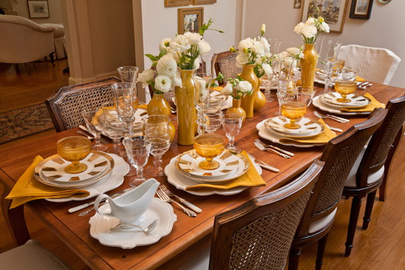 Thanksgiving home decor ideas – festive atmosphere in Gold And White (2)