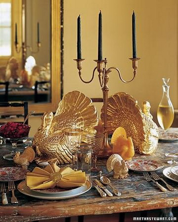 Thanksgiving home decor ideas – festive atmosphere in Gold