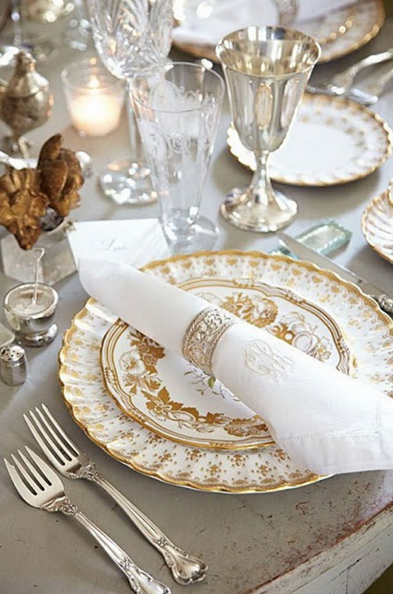 Thanksgiving Home Decor Ideas Festive Atmosphere In Gold And White