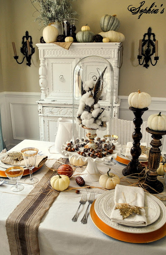 Thanksgiving Home Decor Ideas Festive Atmosphere In Gold