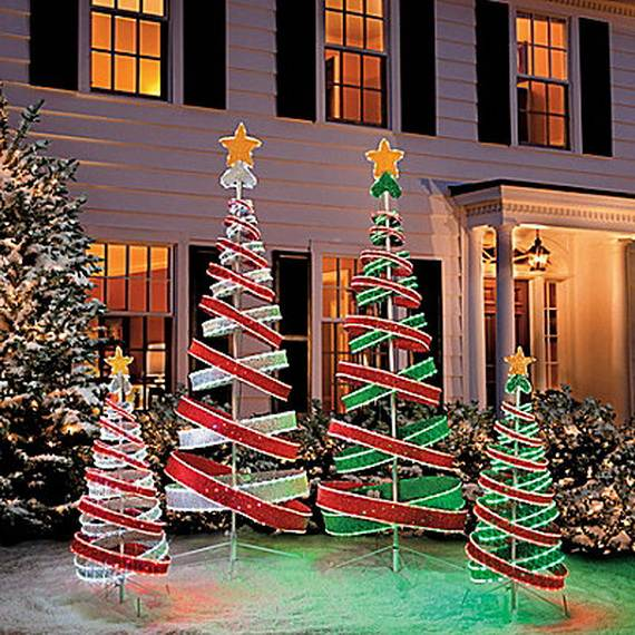 Trendy outdoor christmas decorations family holiday