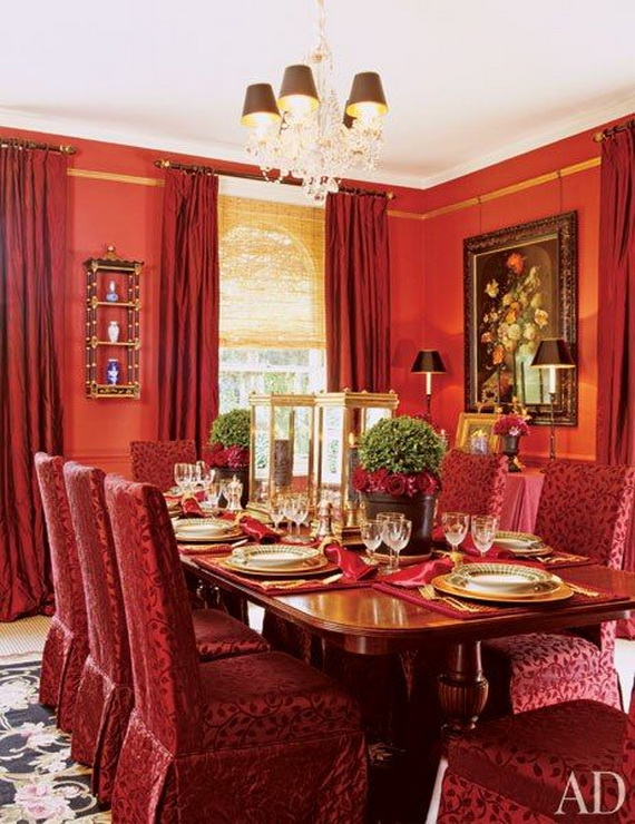 Amazing Red Interior Designs For The Holidays_02