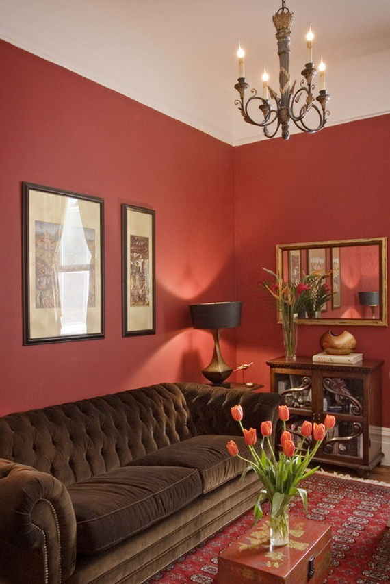 Amazing Red Interior Designs For The Holidays_03