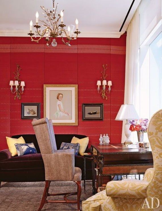 Amazing Red Interior Designs For The Holidays_05