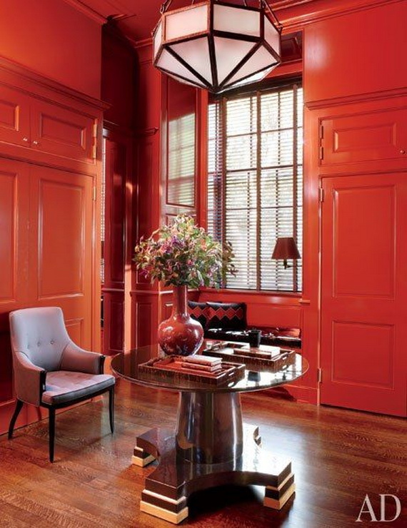 Amazing Red Interior Designs For The Holidays_06