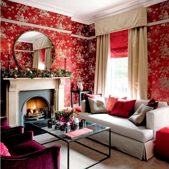 Amazing Red Interior Designs For The Holidays_07