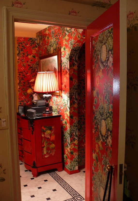 Amazing Red Interior Designs For The Holidays_08