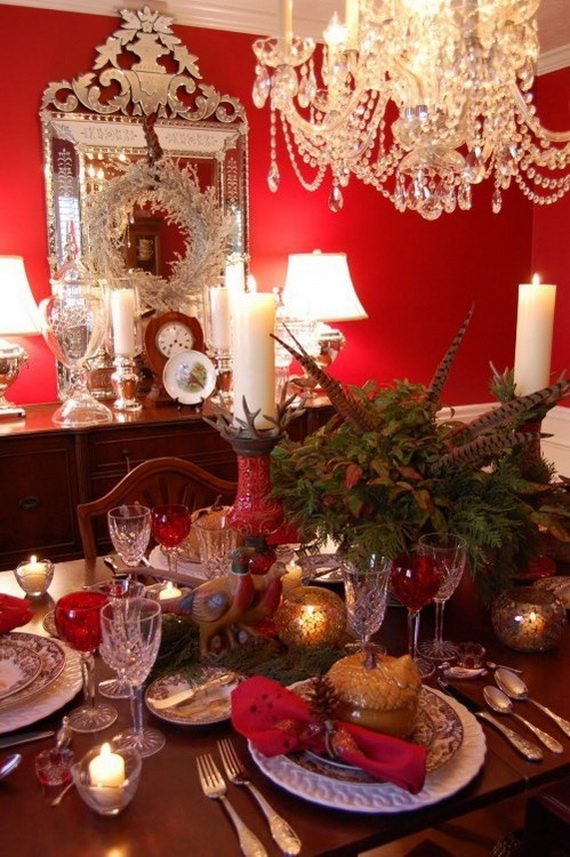 Amazing Red Interior Designs For The Holidays_30