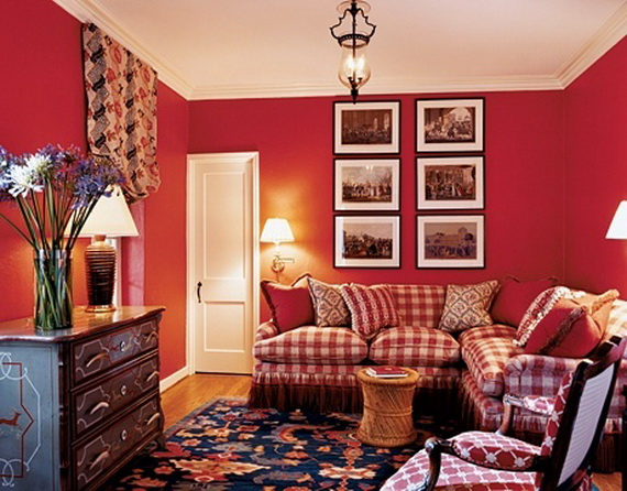 Amazing Red Interior Designs For The Holidays_31