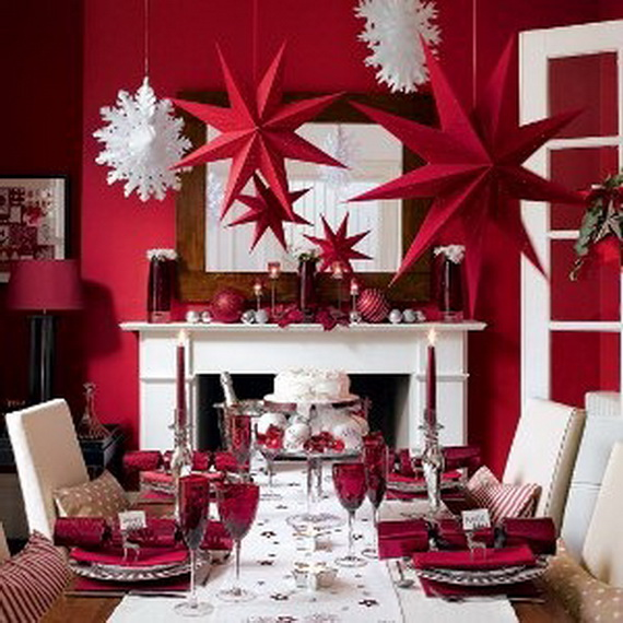 Amazing Red Interior Designs For The Holidays_33