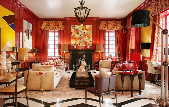 Amazing Red Interior Designs For The Holidays_37