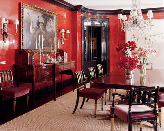 Amazing Red Interior Designs For The Holidays_49