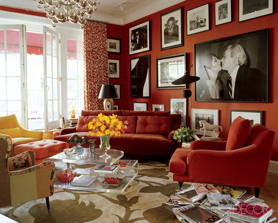 Amazing Red Interior Designs For The Holidays_51