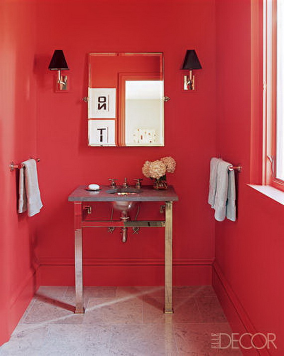 Amazing Red Interior Designs For The Holidays_52