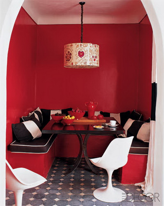 Amazing Red Interior Designs For The Holidays_53