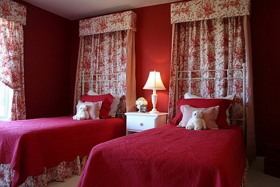Amazing Red Interior Designs For The Holidays_61