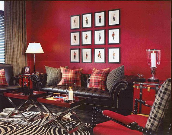 Amazing Red Interior Designs For The Holidays_63
