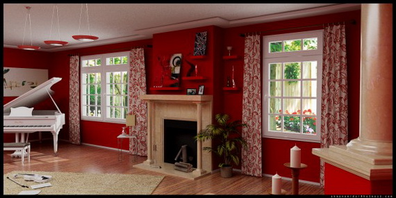 Amazing Red Interior Designs For The Holidays_72