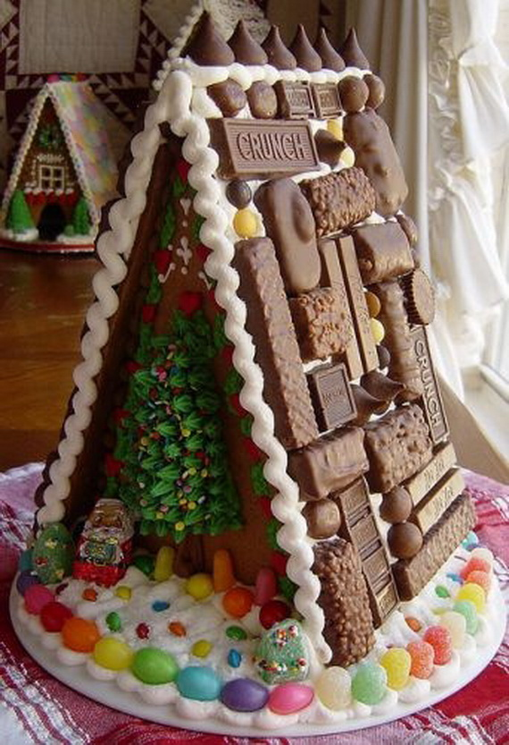 Amazing Traditional Christmas Gingerbread Houses_49