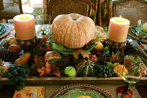 Beautiful Thanksgiving Fall Table Settings And Centerpiece Decor Ideas To Make _05