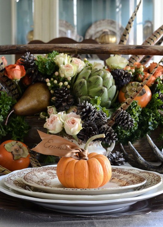 Autumn Table Setting Ideas decorating mahogany dining table fall table settings wedding decorations for tables outside fall decorating ideas pictures Beautiful Thanksgiving Fall Table Settings And Centerpiece Decor Ideas To Make _08
