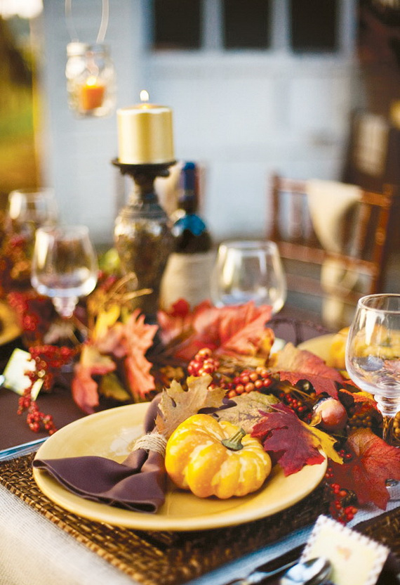 Beautiful Thanksgiving Fall Table Settings And Centerpiece Decor Ideas To Make _15