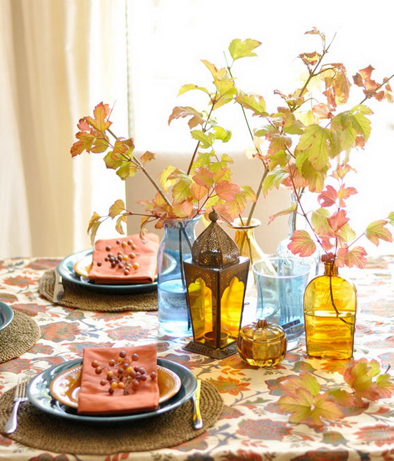 Beautiful Thanksgiving Fall Table Settings And Centerpiece Decor Ideas To Make _17