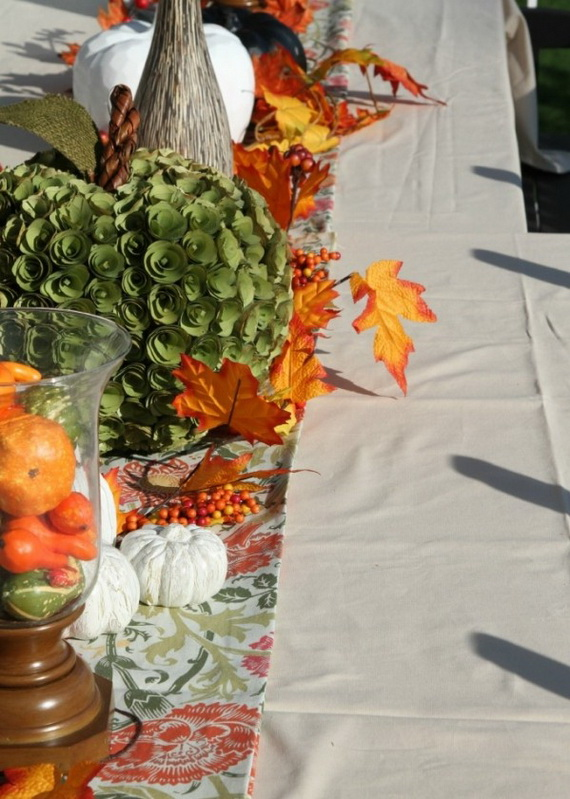 Beautiful Thanksgiving Fall Table Settings And Centerpiece Decor Ideas To Make _28