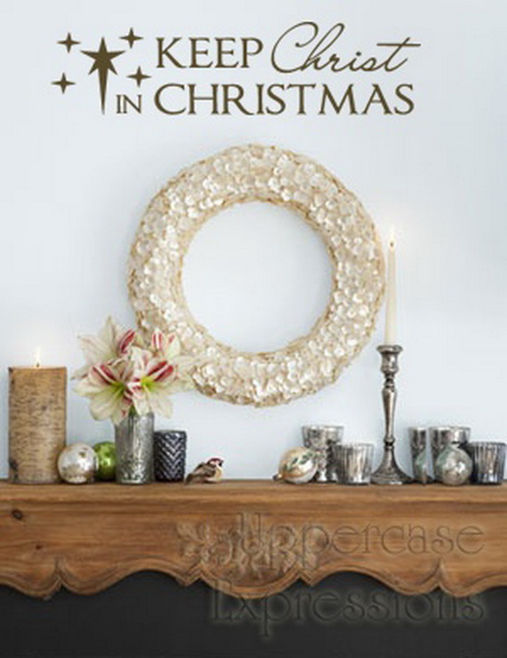 Creative Christmas Decor Ideas with Decals For a Holiday Atmosphere_35