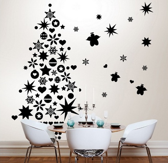 Creative Christmas Decor Ideas with Decals For a Holiday Atmosphere_38