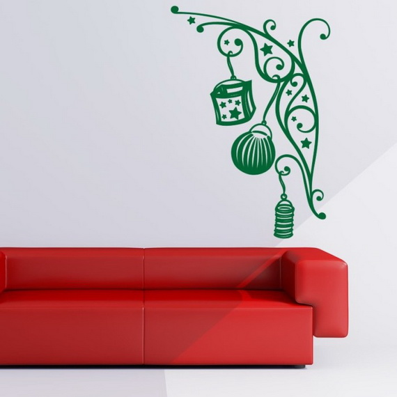 Creative Christmas Decor Ideas with Decals For a Holiday Atmosphere_46