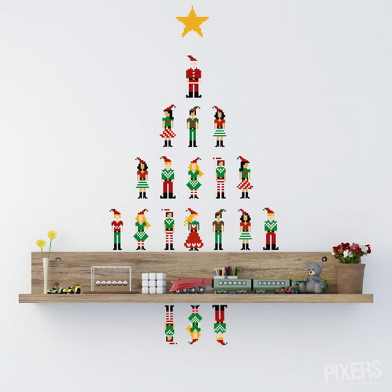 Creative Christmas Decor Ideas with Decals For a Holiday Atmosphere_49