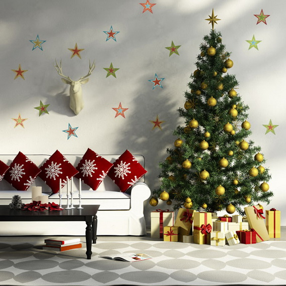 Creative Christmas Decor Ideas with Decals For a Holiday Atmosphere_55