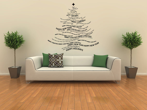 Creative Christmas Decor Ideas with Decals For a Holiday Atmosphere_81