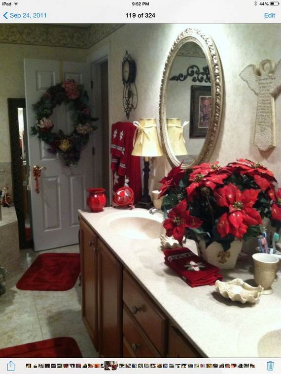 cute bathroom decorating ideas for christmas - family holiday