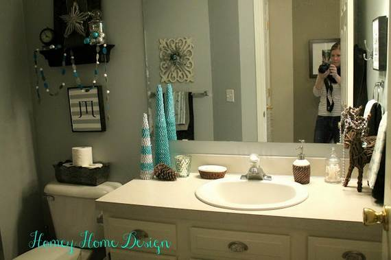 Cute Bathroom Decorating Ideas For Christmas Family To Fa