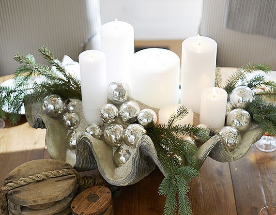 Magnificent green and white christmas decorating ideas White christmas centerpieces