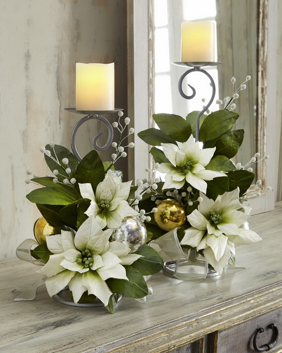 Magnificent Green And White Christmas Decorating Ideas _54