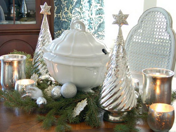 Magnificent Green And White Christmas Decorating Ideas _74