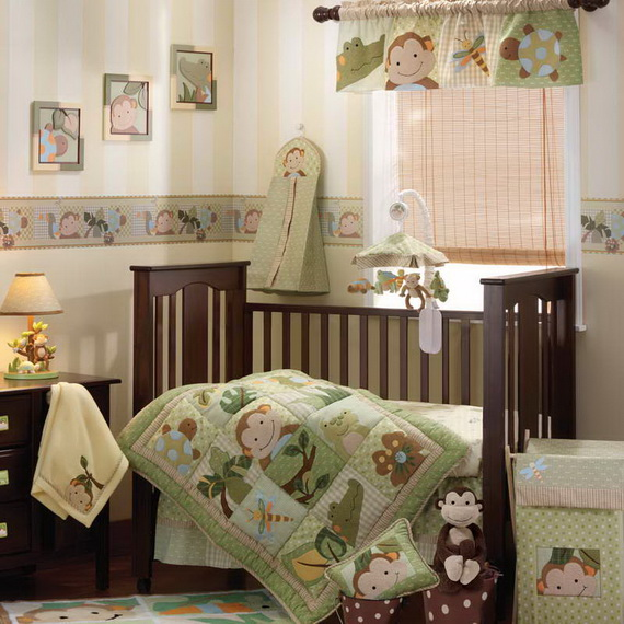 Monkey Baby Crib Bedding Theme and Design Ideas