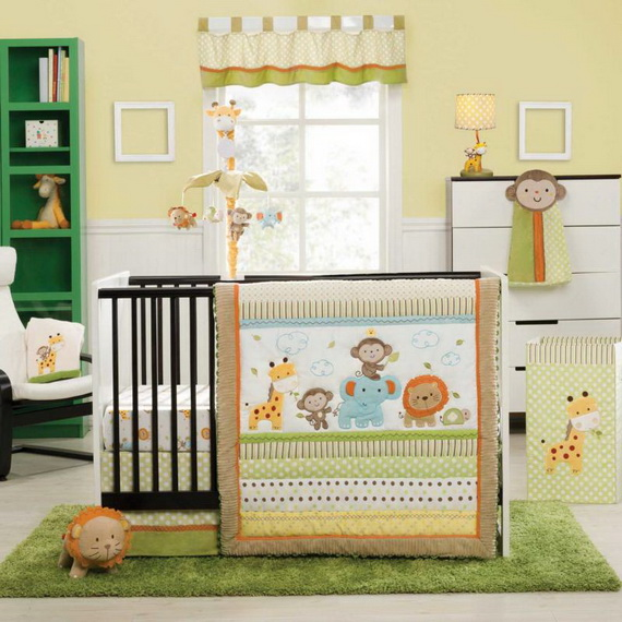 Monkey Baby Crib Bedding Theme and Design Ideas _01