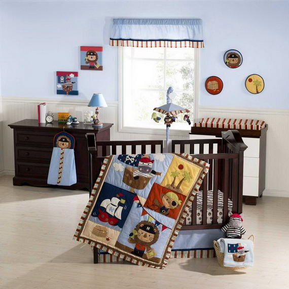 Monkey Baby Crib Bedding Theme and Design Ideas _03